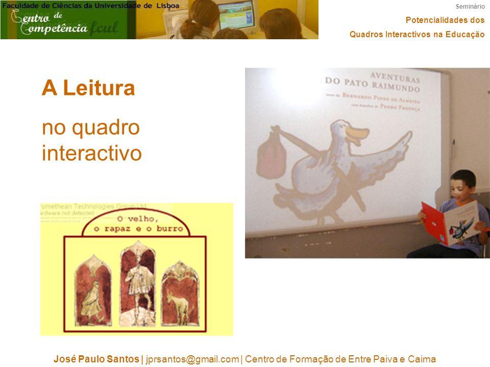 A Leitura no quadro interactivo