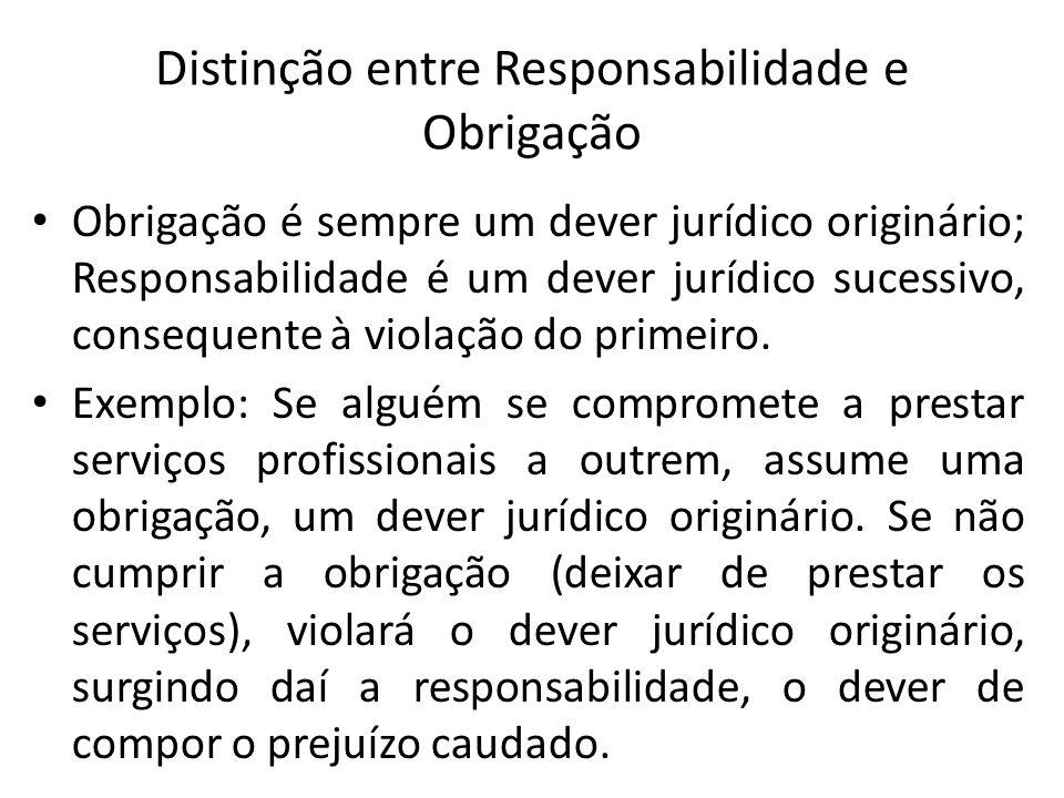 Distinção entre Responsabilidade e Obrigação