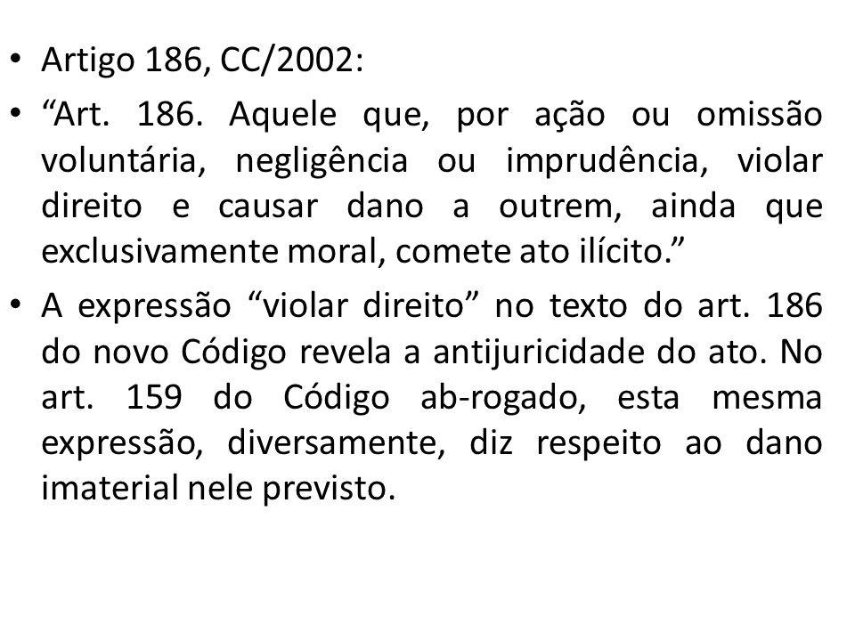 Artigo 186, CC/2002: