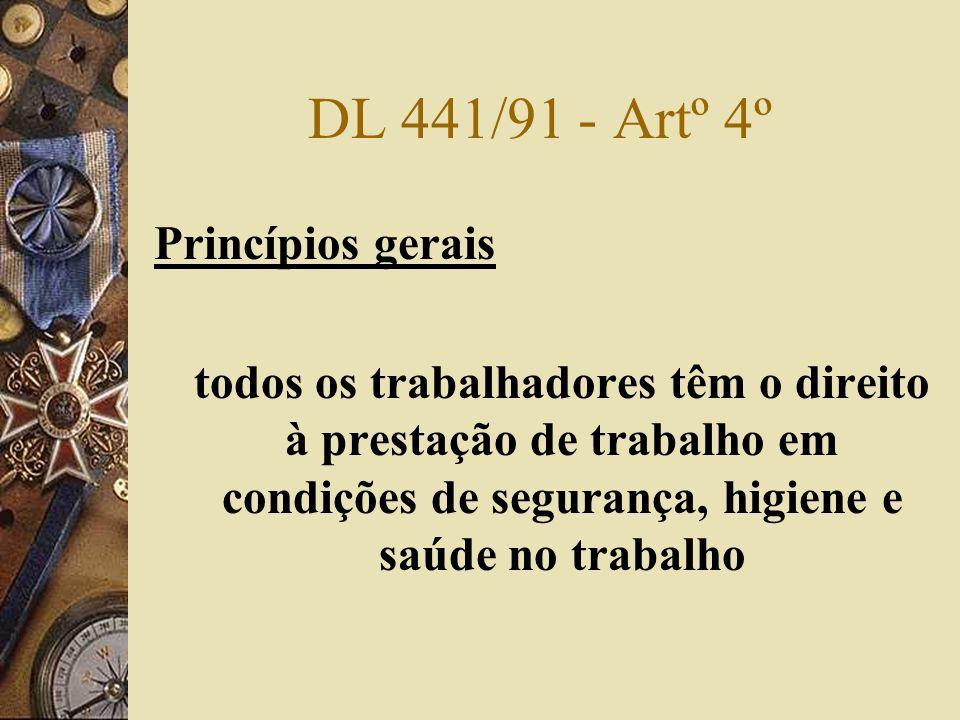DL 441/91 - Artº 4º Princípios gerais