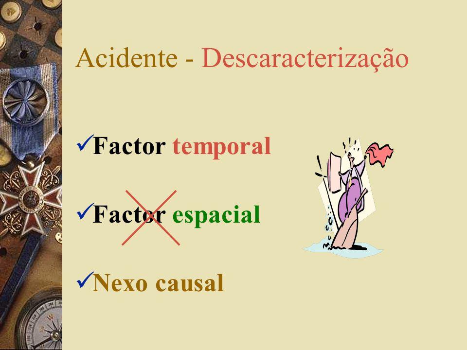 Acidente - Descaracterização