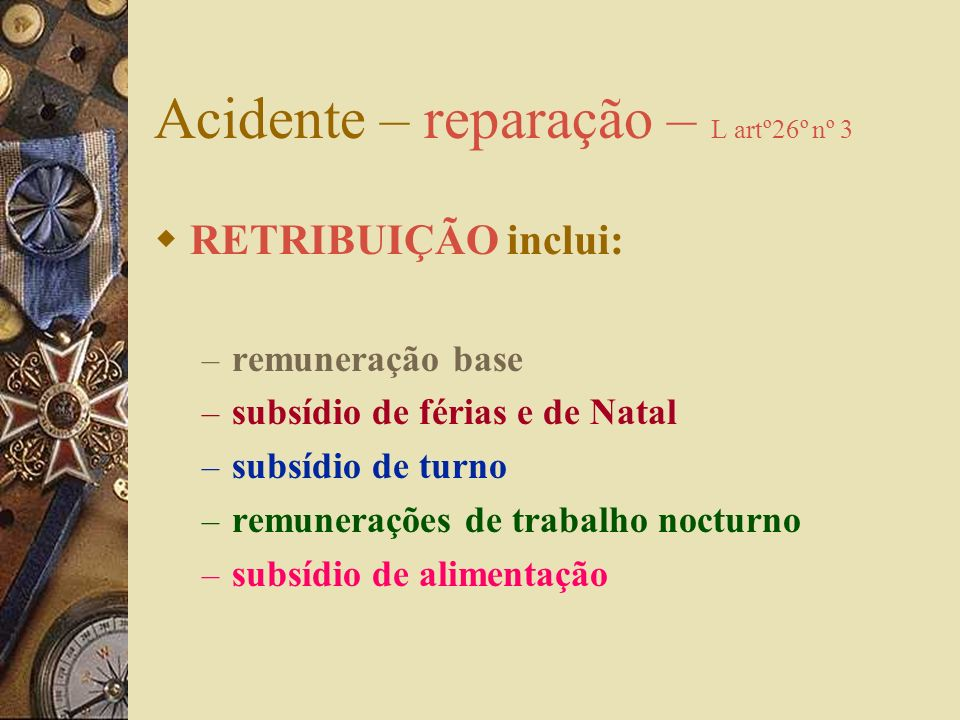 Acidente – reparação – L artº26º nº 3