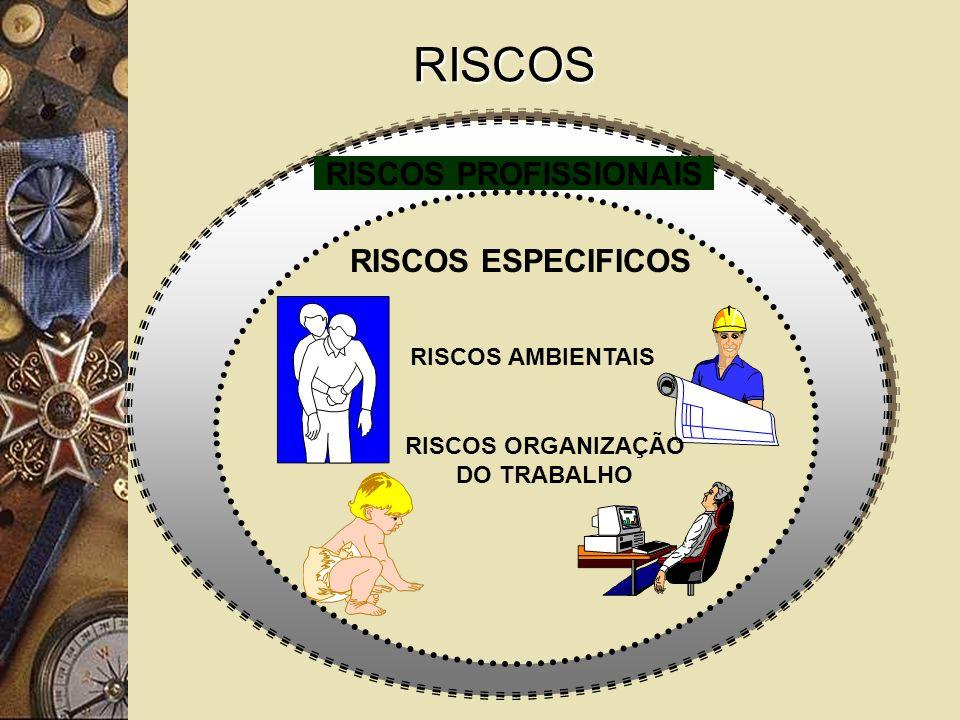 RISCOS RISCOS PROFISSIONAIS RISCOS ESPECIFICOS RISCOS AMBIENTAIS