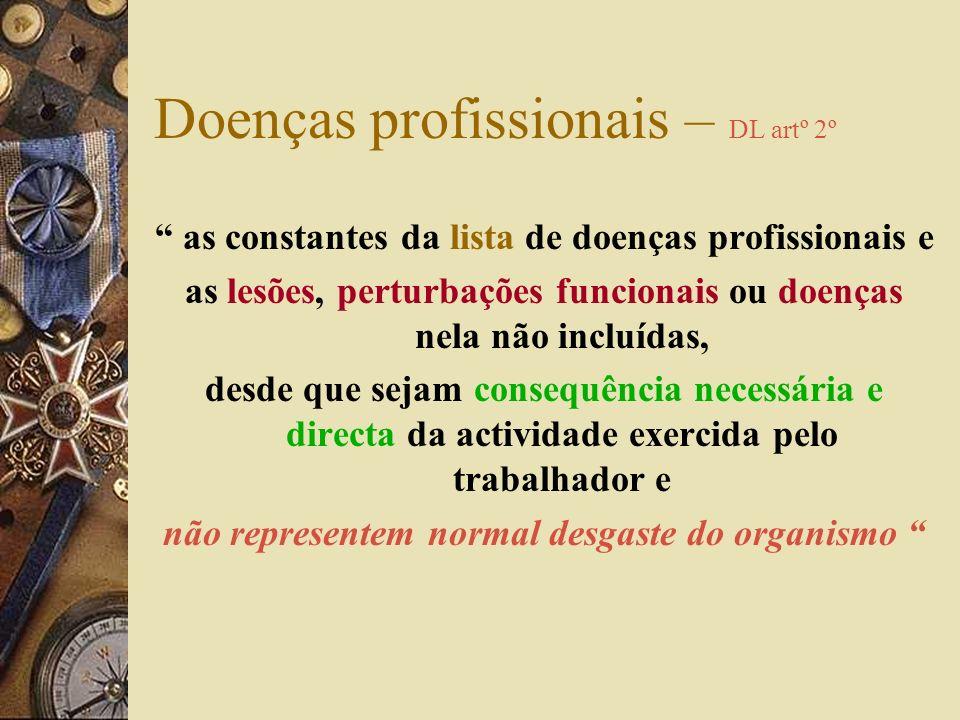 Doenças profissionais – DL artº 2º
