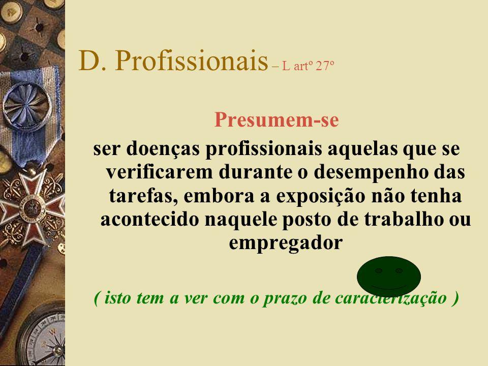 D. Profissionais – L artº 27º
