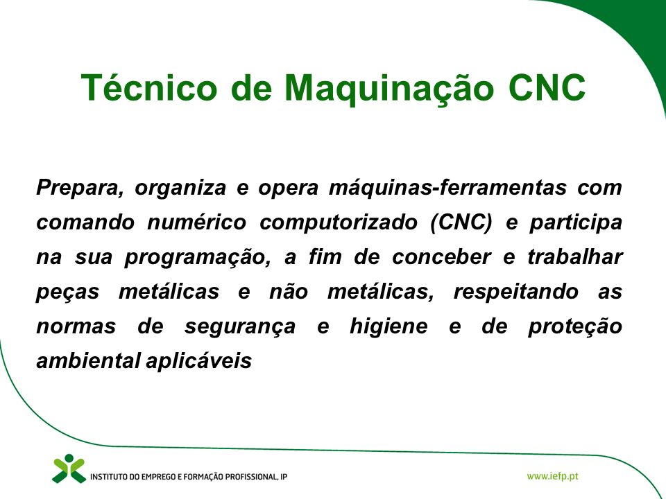 Técnico de Maquinação CNC