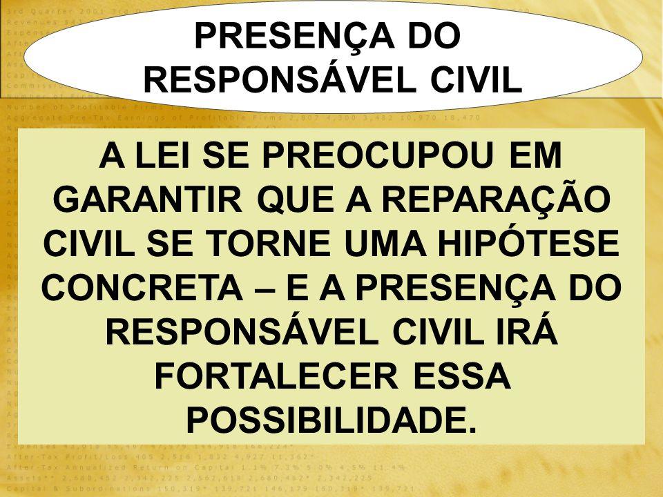 PRESENÇA DO RESPONSÁVEL CIVIL.