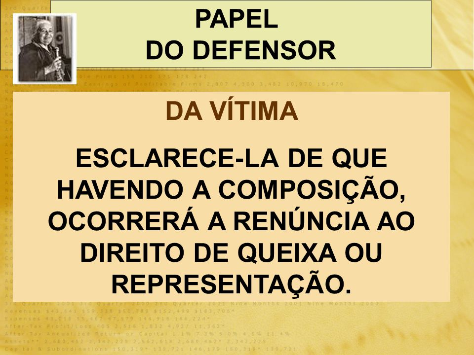PAPEL DO DEFENSOR. DA VÍTIMA.