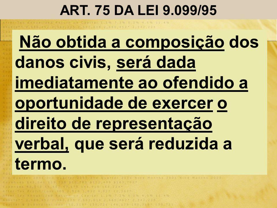 ART. 75 DA LEI 9.099/95