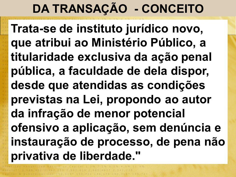 DA TRANSAÇÃO - CONCEITO
