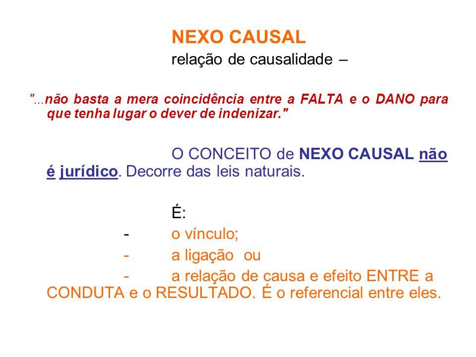 relação de causalidade –