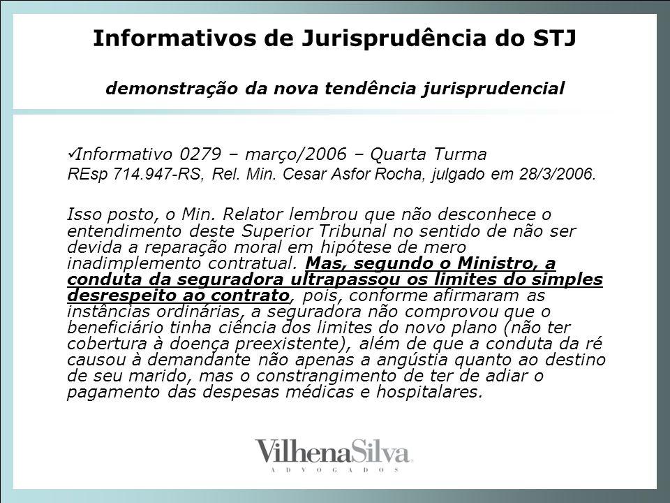 Informativos de Jurisprudência do STJ demonstração da nova tendência jurisprudencial