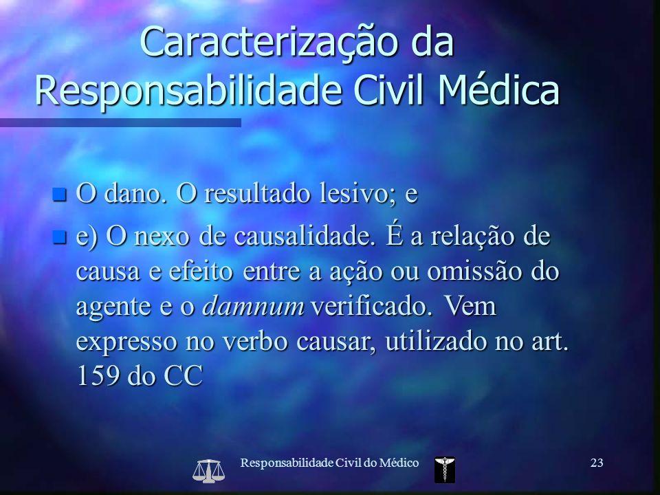 Caracterização da Responsabilidade Civil Médica