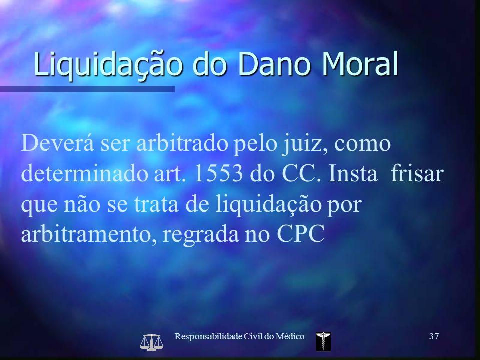 Liquidação do Dano Moral