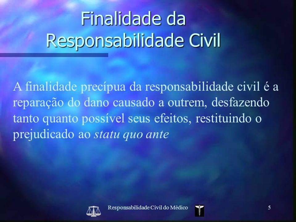Finalidade da Responsabilidade Civil