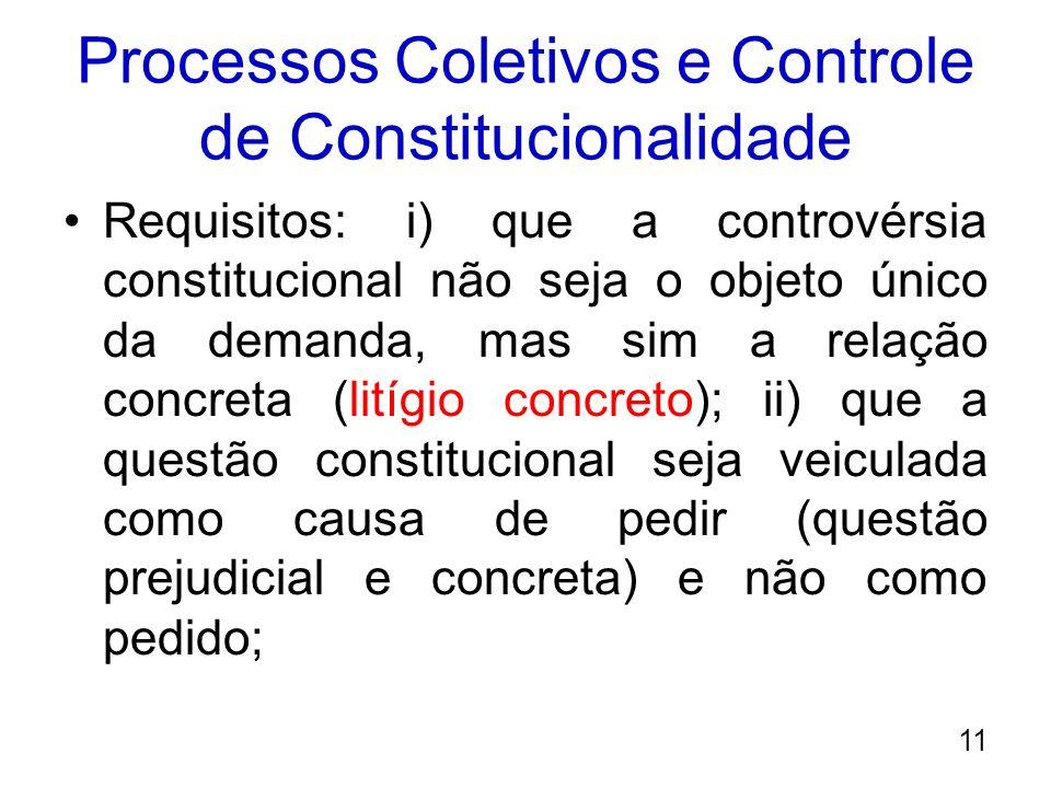 Processos Coletivos e Controle de Constitucionalidade