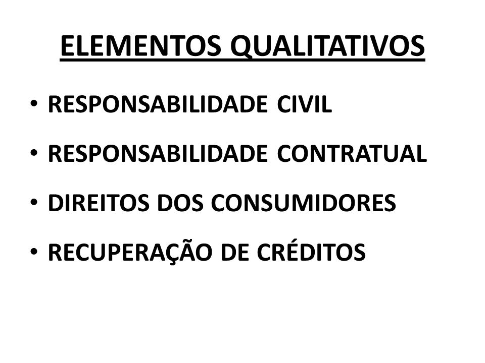 ELEMENTOS QUALITATIVOS