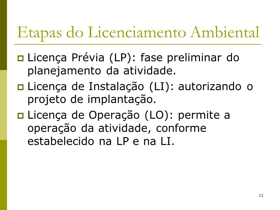 Etapas do Licenciamento Ambiental