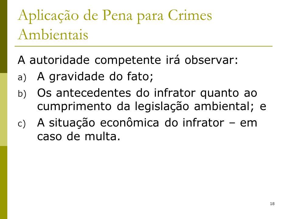 Aplicação de Pena para Crimes Ambientais