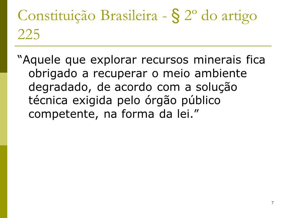 Constituição Brasileira - § 2º do artigo 225