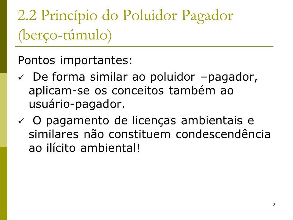 2.2 Princípio do Poluidor Pagador (berço-túmulo)