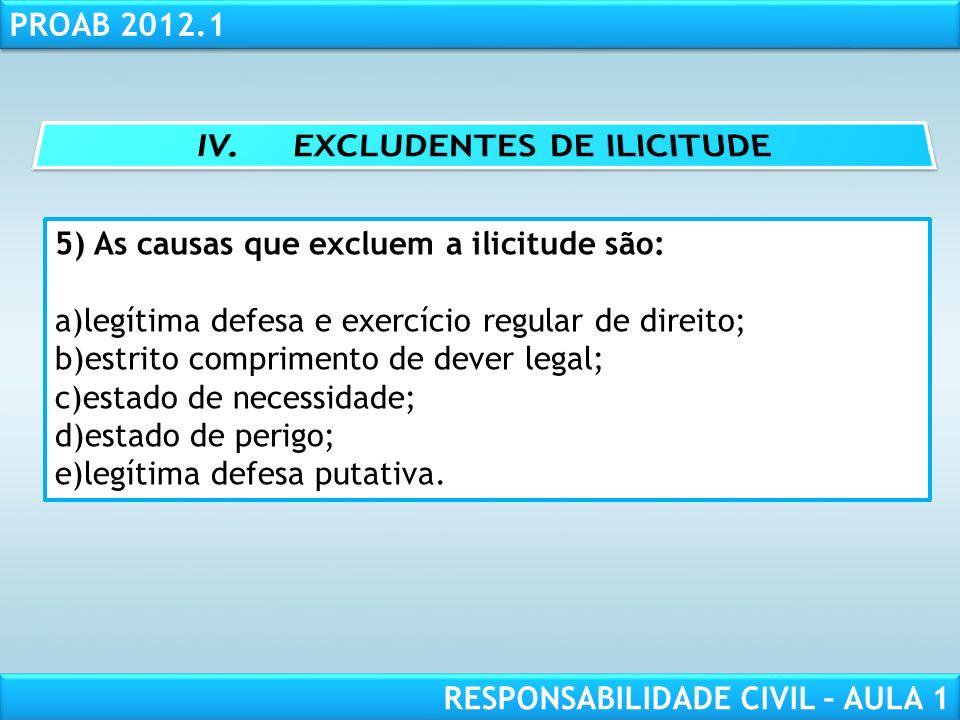 IV. EXCLUDENTES DE ILICITUDE