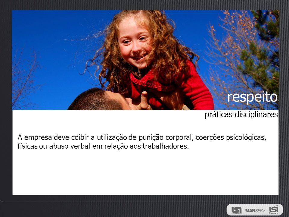 respeito práticas disciplinares