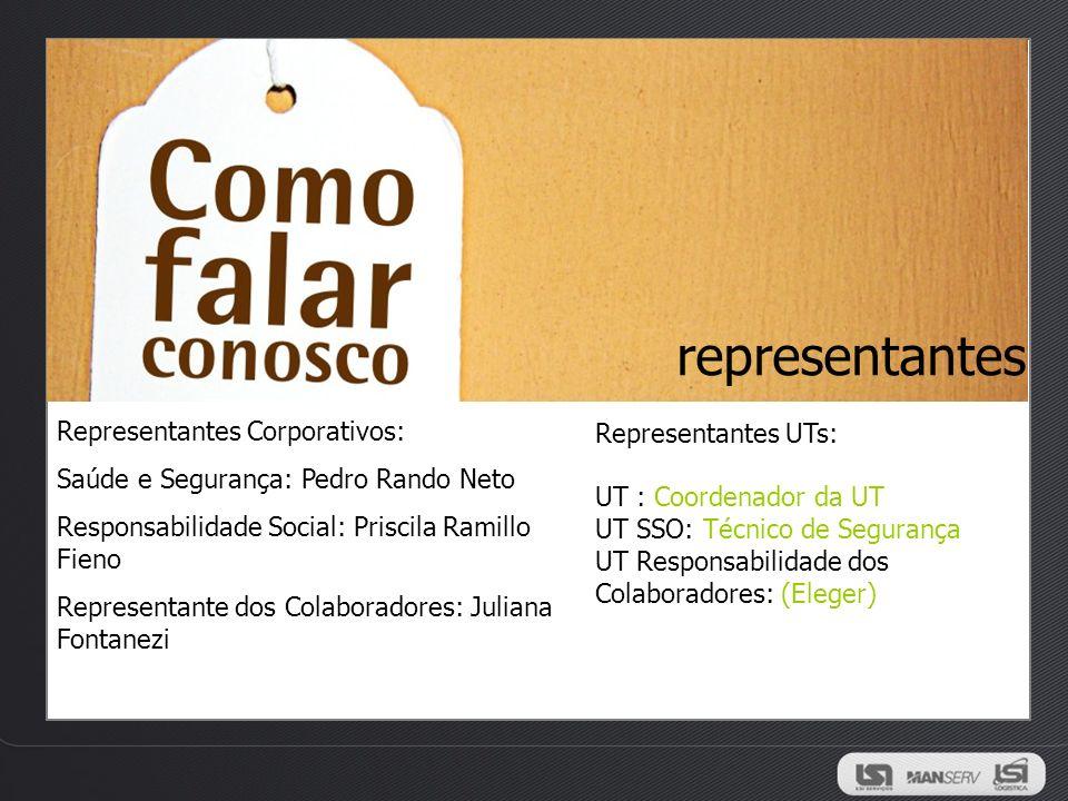 representantes Representantes Corporativos: Representantes UTs: