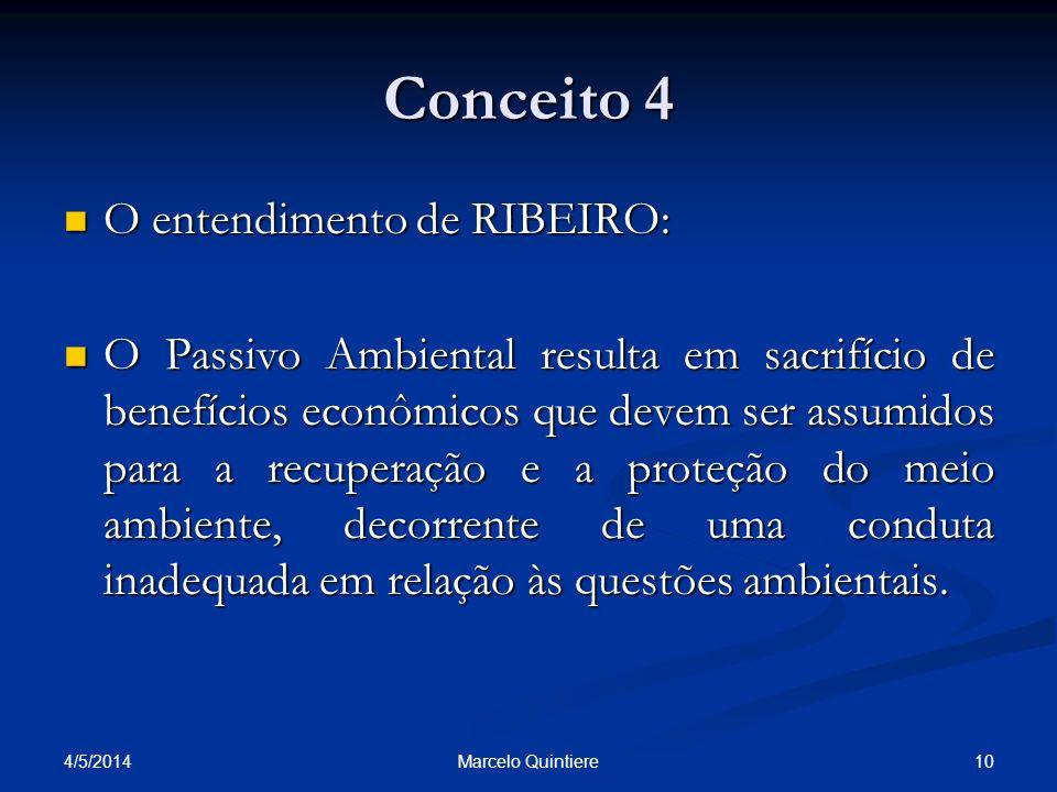 Conceito 4 O entendimento de RIBEIRO: