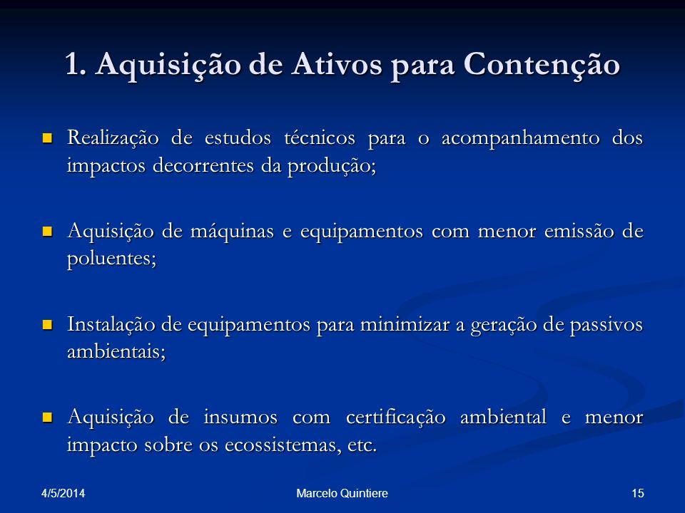 1. Aquisição de Ativos para Contenção