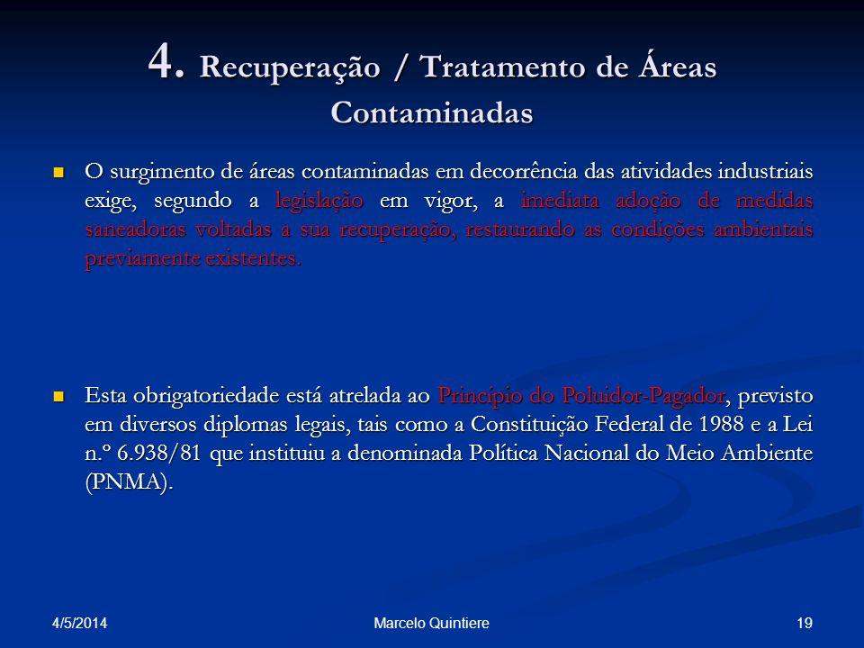 4. Recuperação / Tratamento de Áreas Contaminadas