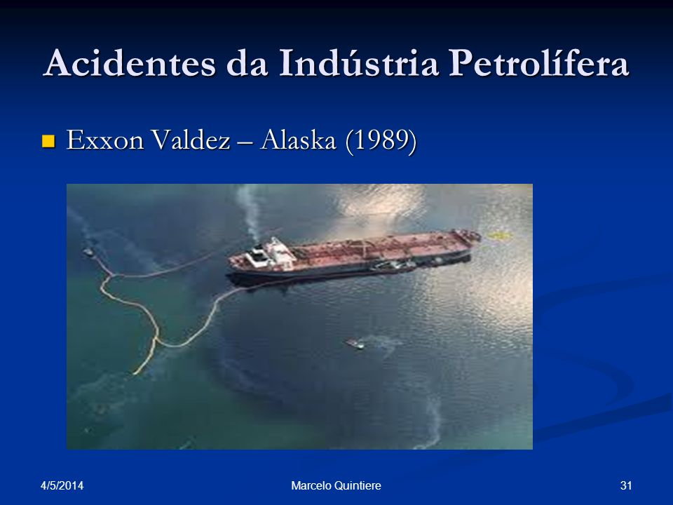 Acidentes da Indústria Petrolífera