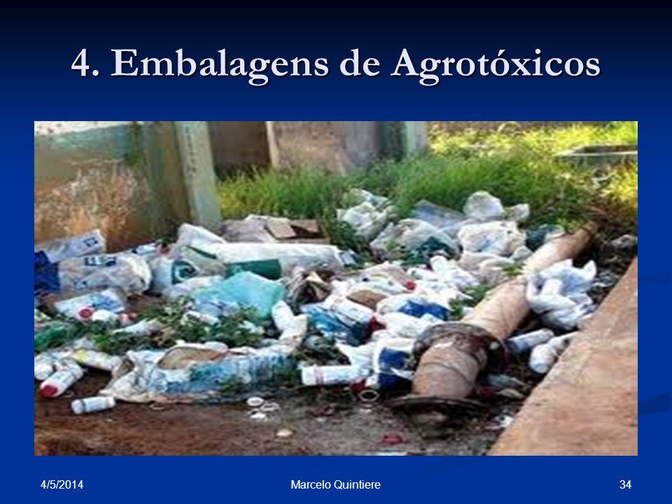 4. Embalagens de Agrotóxicos