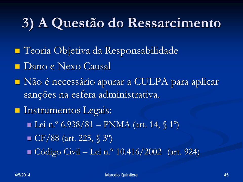 3) A Questão do Ressarcimento