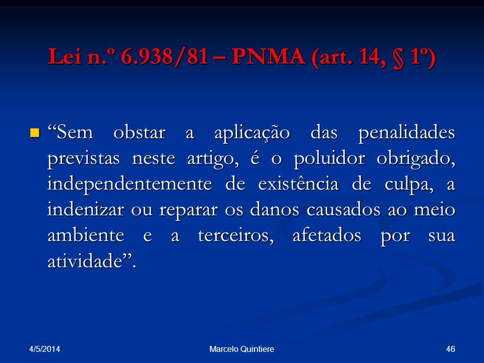 Lei n.º 6.938/81 – PNMA (art. 14, § 1º)
