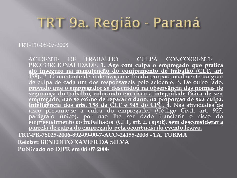 TRT 9a. Região - Paraná TRT-PR-08-07-2008