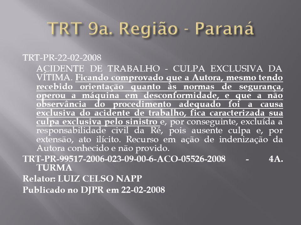 TRT 9a. Região - Paraná TRT-PR-22-02-2008