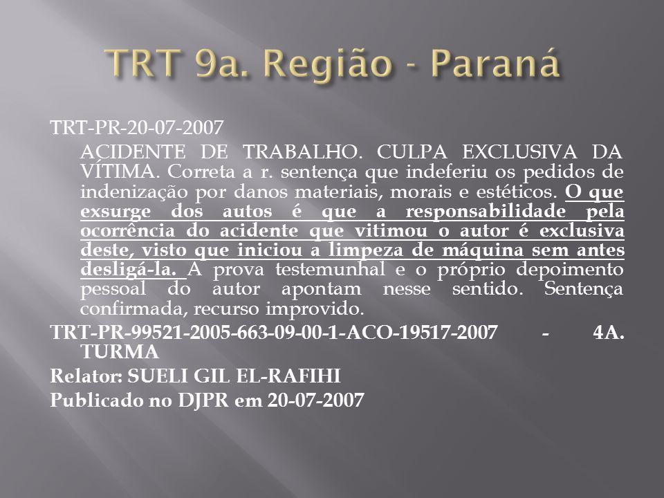 TRT 9a. Região - Paraná TRT-PR-20-07-2007