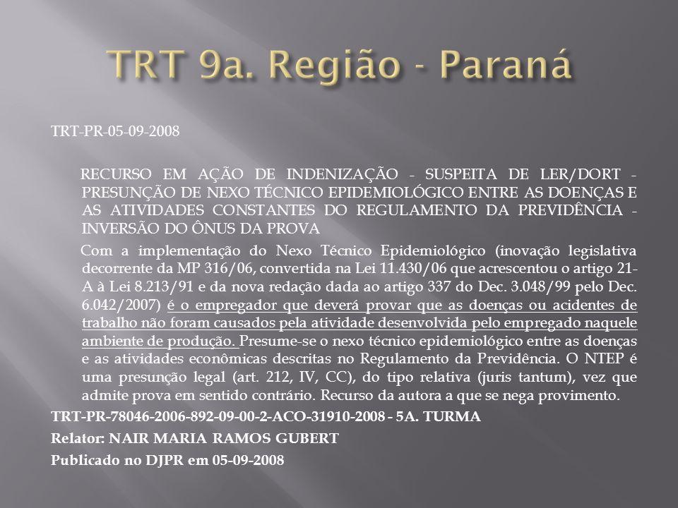 TRT 9a. Região - Paraná