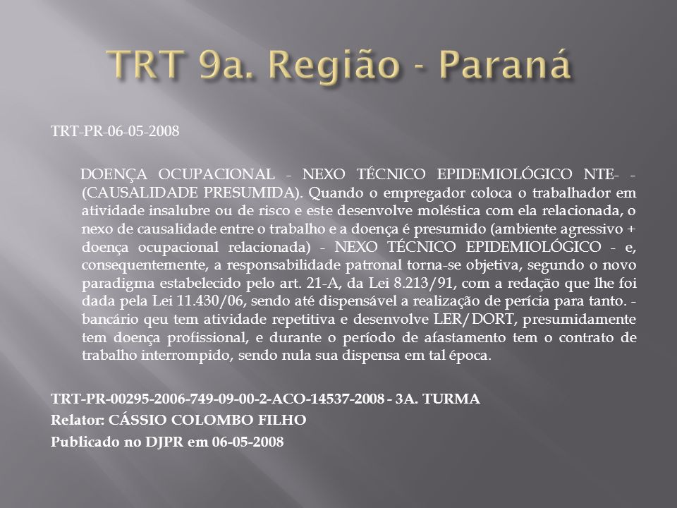 TRT 9a. Região - Paraná TRT-PR-06-05-2008