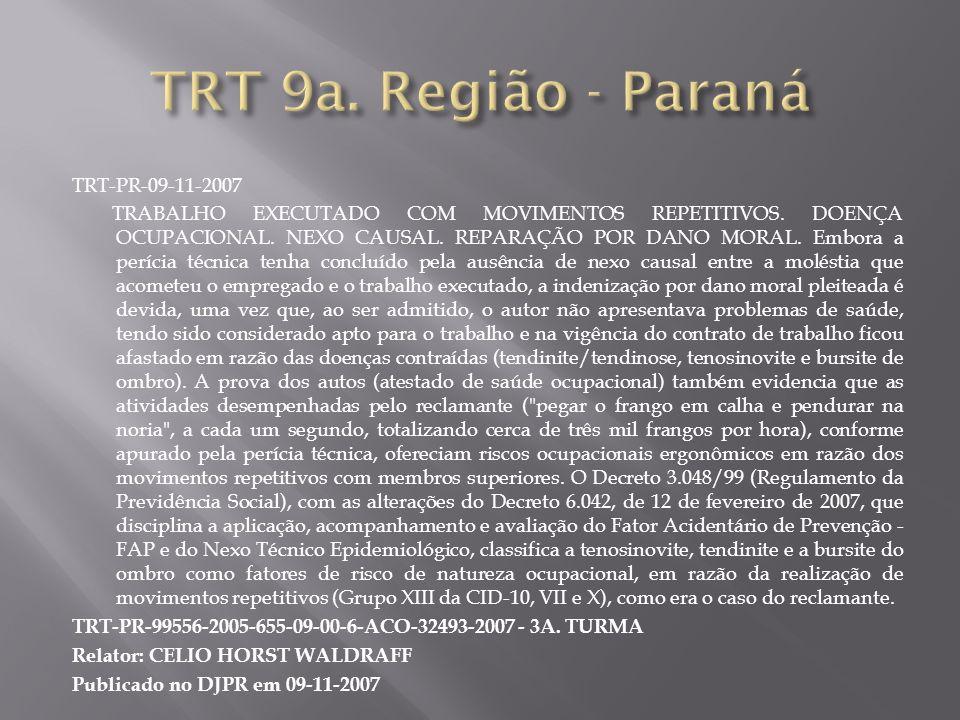TRT 9a. Região - Paraná TRT-PR-09-11-2007