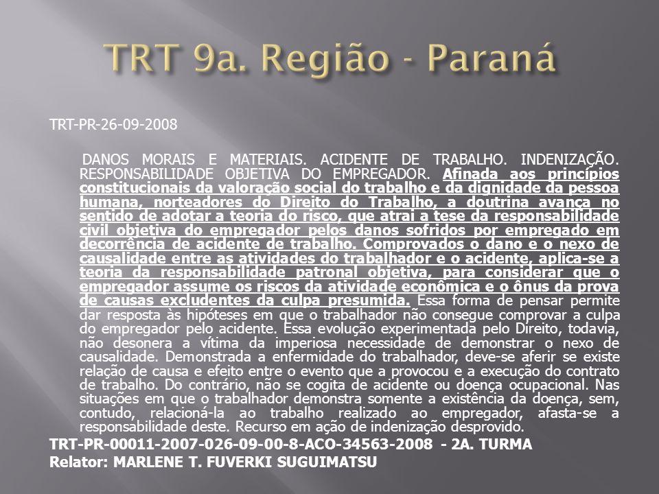 TRT 9a. Região - Paraná TRT-PR-26-09-2008