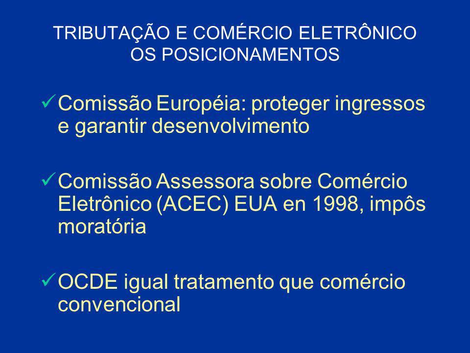 TRIBUTAÇÃO E COMÉRCIO ELETRÔNICO OS POSICIONAMENTOS