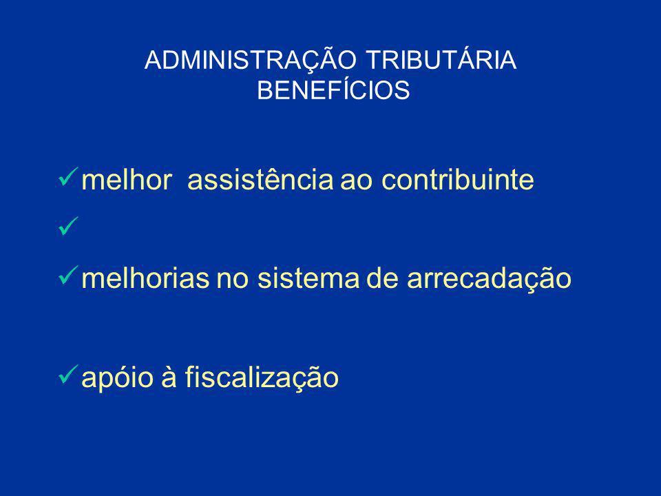 ADMINISTRAÇÃO TRIBUTÁRIA BENEFÍCIOS