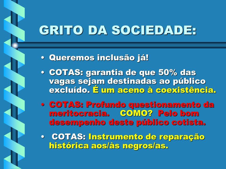 GRITO DA SOCIEDADE: Queremos inclusão já!