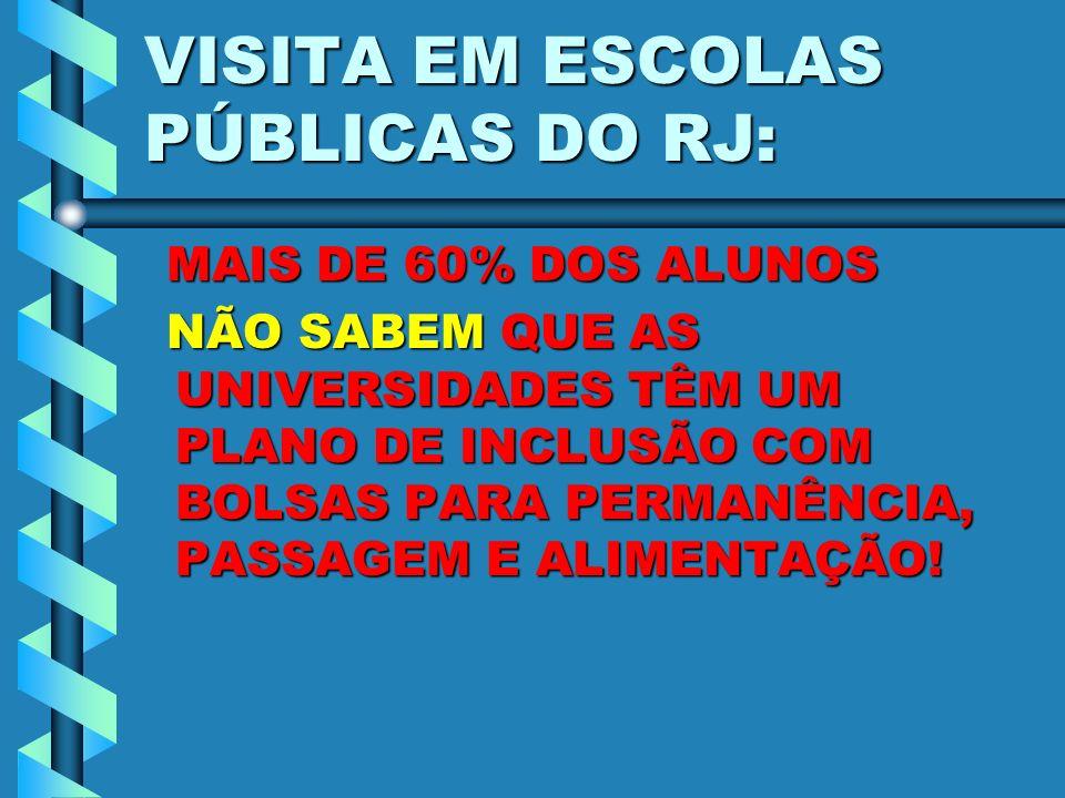 VISITA EM ESCOLAS PÚBLICAS DO RJ: