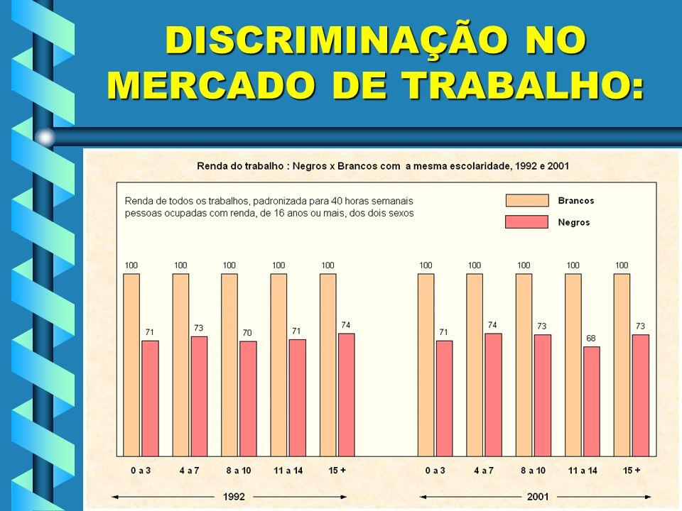 DISCRIMINAÇÃO NO MERCADO DE TRABALHO: