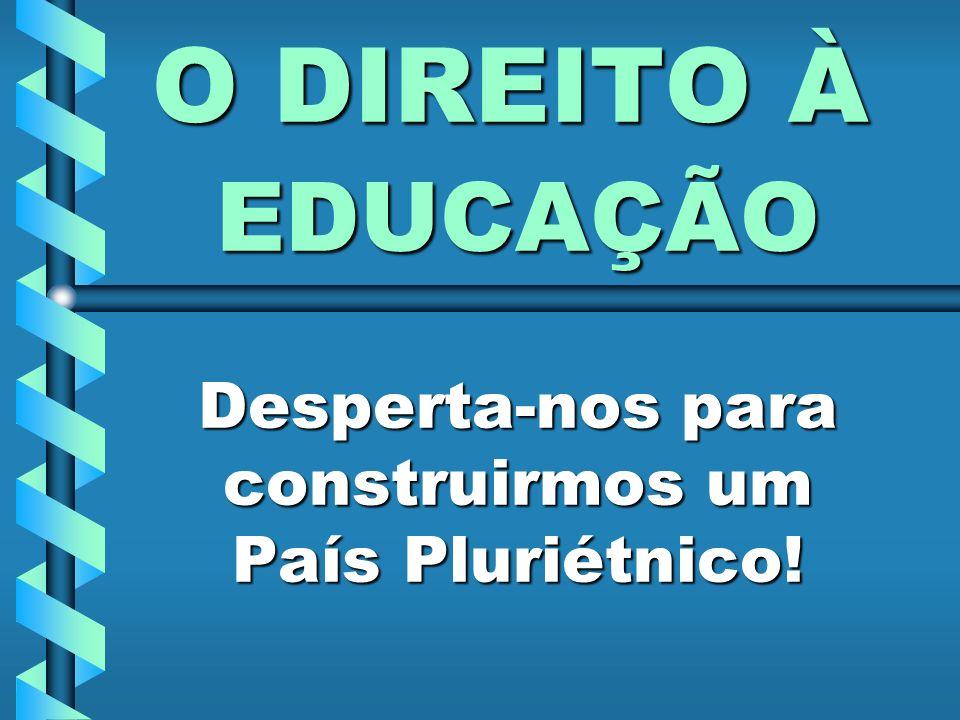 EDUCAÇÃO Desperta-nos para construirmos um País Pluriétnico!