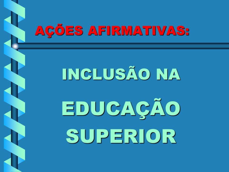 AÇÕES AFIRMATIVAS: INCLUSÃO NA EDUCAÇÃO SUPERIOR