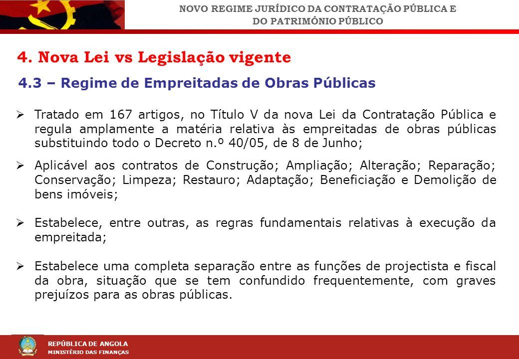 NOVO REGIME JURÍDICO DA CONTRATAÇÃO PÚBLICA E